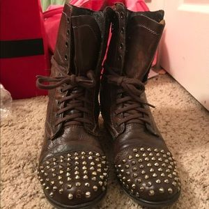 Steve Madden Studded Troopa Combat Boots